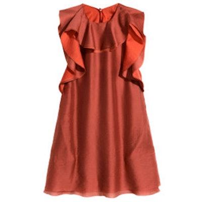 Ruffled Lyocell-Blend Dress