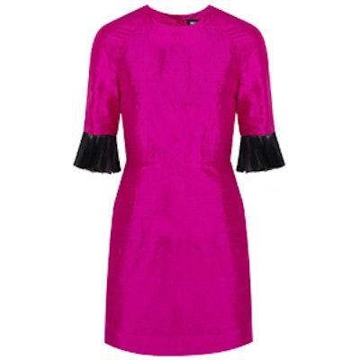 Grace Tulle-Trimmed Mini Dress