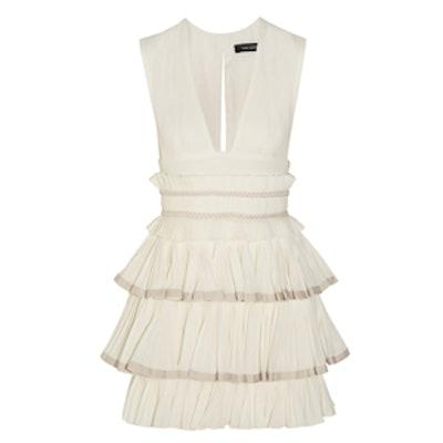 Glory Ruffled Cotton-Gauze Mini Dress