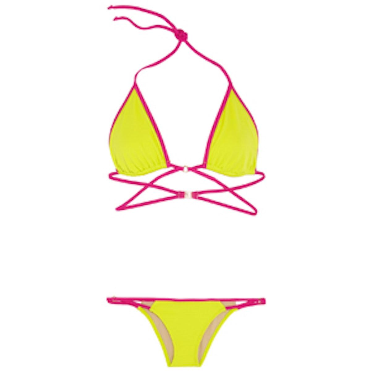 Cari Two-Tone Triangle Bikini