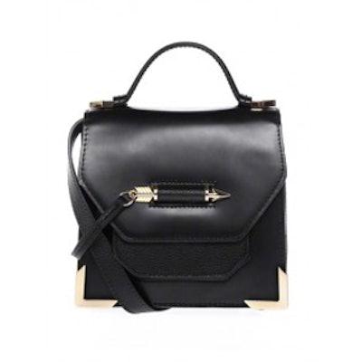 Rubie Black and Gold Mini Crossbody Bag