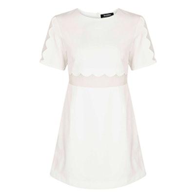 Verity Crepe Scallop Shift Dress