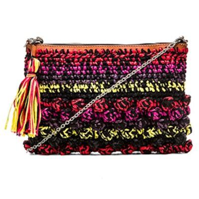 Melange Raffia Bag