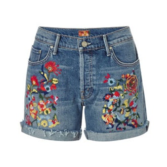 Loosey Embroidered Jean Shorts