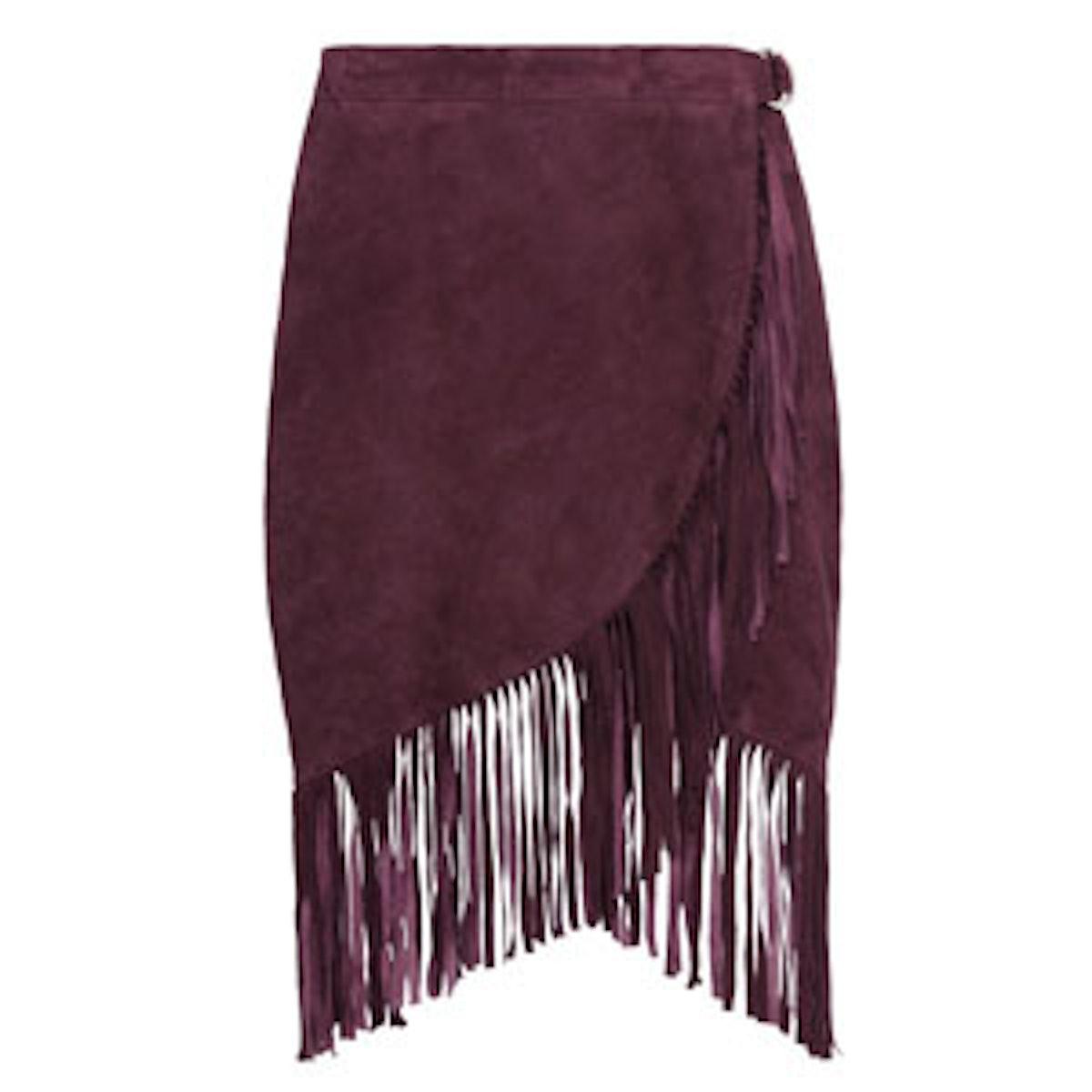 Bordeaux Suede Bessie Skirt