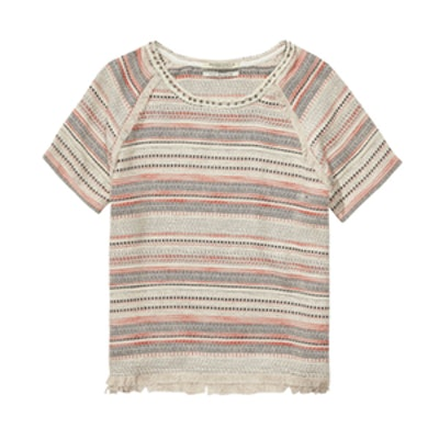 Woven Boucle Top
