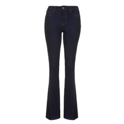 Clean-Cut Flared Jeans