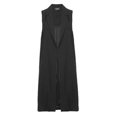 Sleeveless Side Split Coat