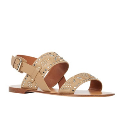 Studded Double-Band Sandals
