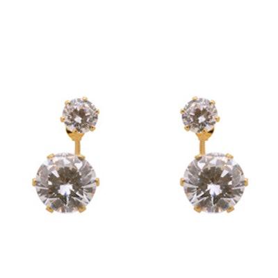Double-Gem Cuff Earrings