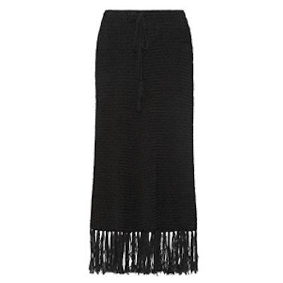 Anemone Fringed Maxi Skirt