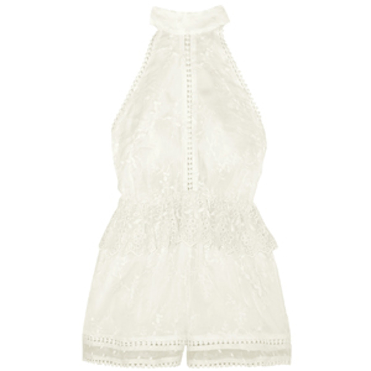 Admire Cherry Embroidered Silk Playsuit