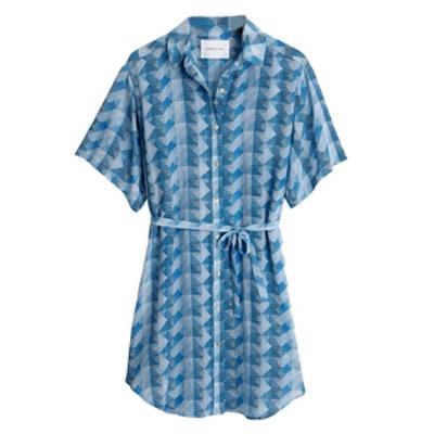 Silk Print Benita Shirt Dress