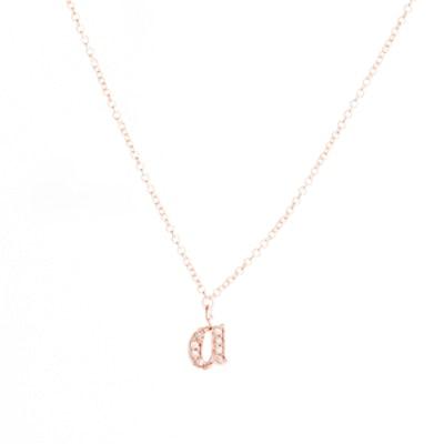 Pavé Alphabet Necklace