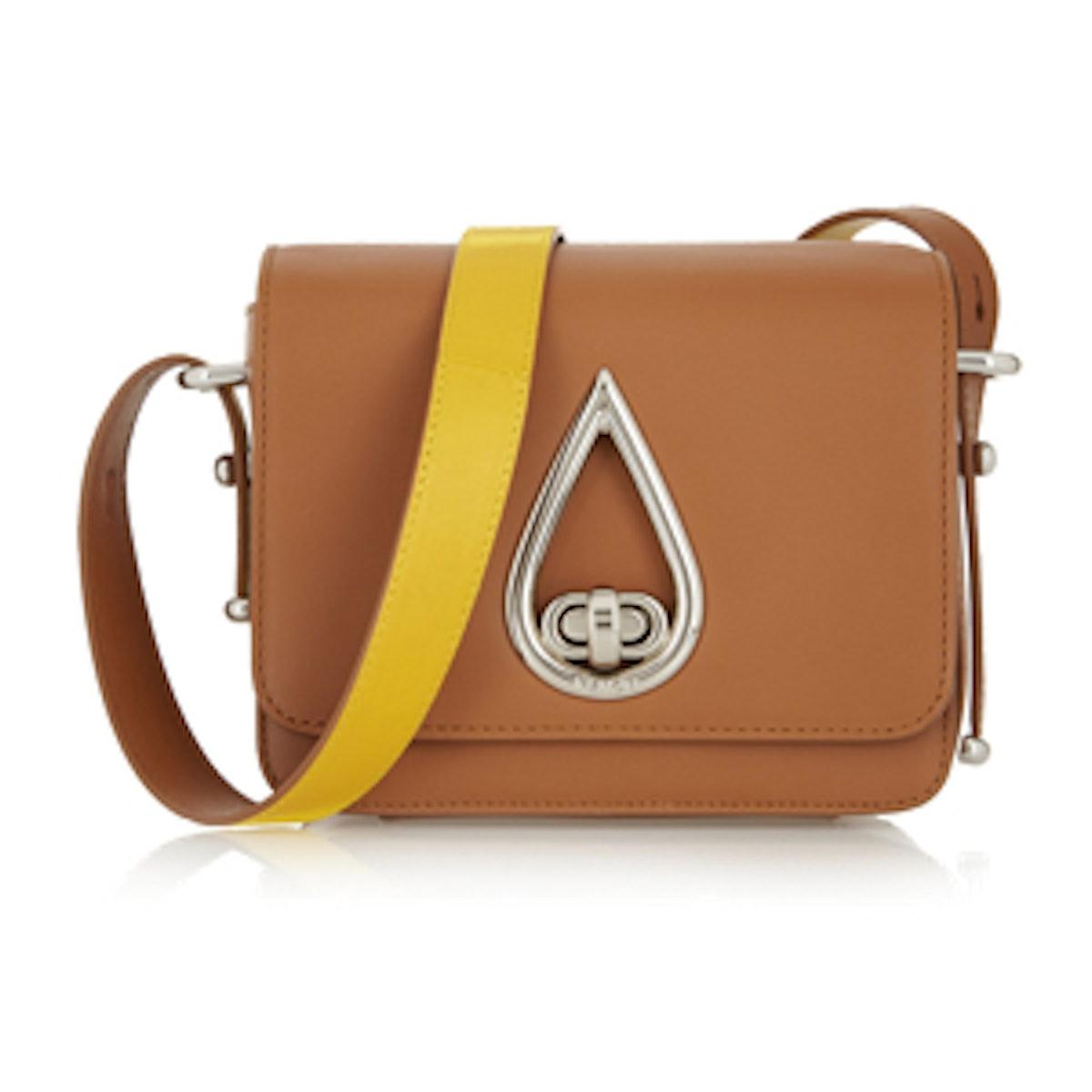 Raindrop Leather Shoulder Bag