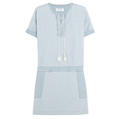 The Poncho Chambray Mini Dress