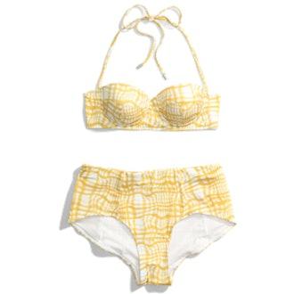 Wavy Gingham Retro Bikini