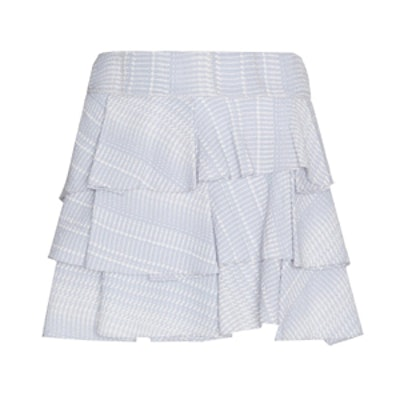 10 Crosby Tiered Silk Ruffle Skirt
