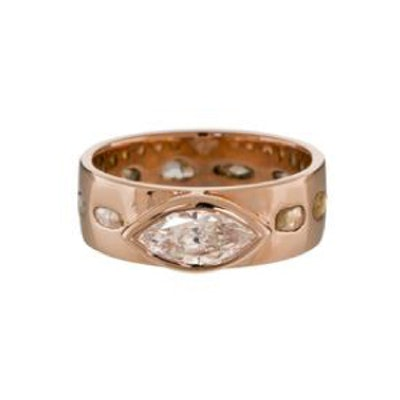 Marquise and Rose Cut Diamond Band