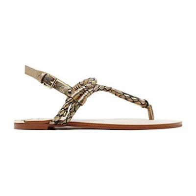 Dixin Sandals in Dark Gold