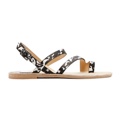 Nelley Sandals in Black and White