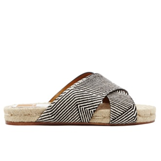 Genivee Sandals in Black & White