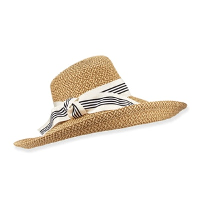 Socialite Stripe-Bow Hat
