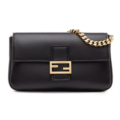 Micro Baguette Leather Shoulder Bag