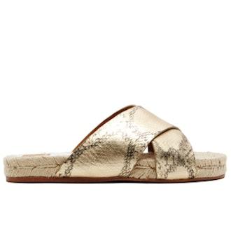 Genivee Sandals in Gold