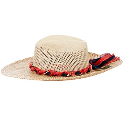 Cutout-Crown Panama Hat