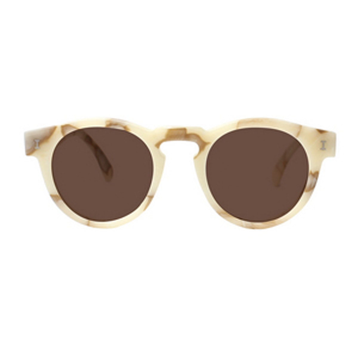 Leonard Cream Marble Sunglasses