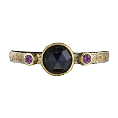 Stacker with Rose-Cut Black Spinel Ring