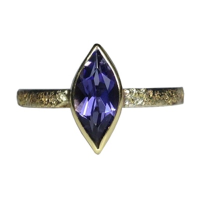 Stacker with Marquise Iolite Ring