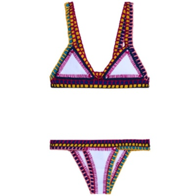 Tasmin Crochet-Trim Bikini