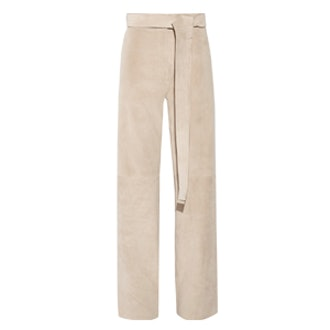 Suede Wide-Leg Pants
