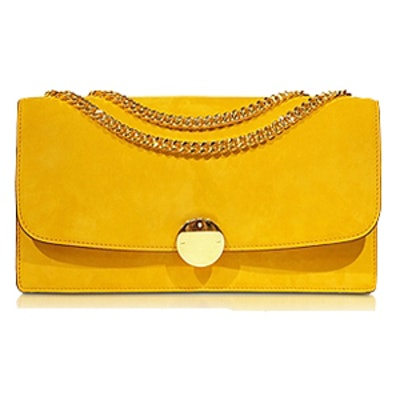 Double Trouble Sunflower Suede Bag