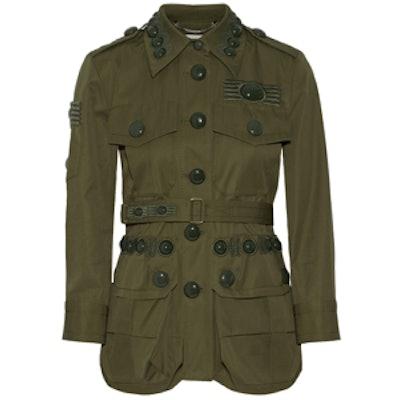 Embellished Cotton-Twill Jacket