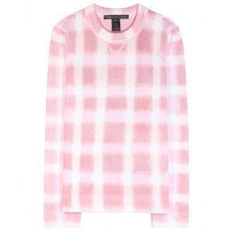 Blurred Gingham Sweater