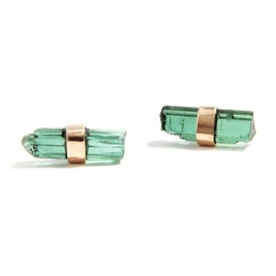 Tourmaline Stick Stud Earrings