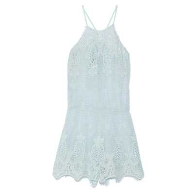 Cicely Crocheted Cotton Playsuit