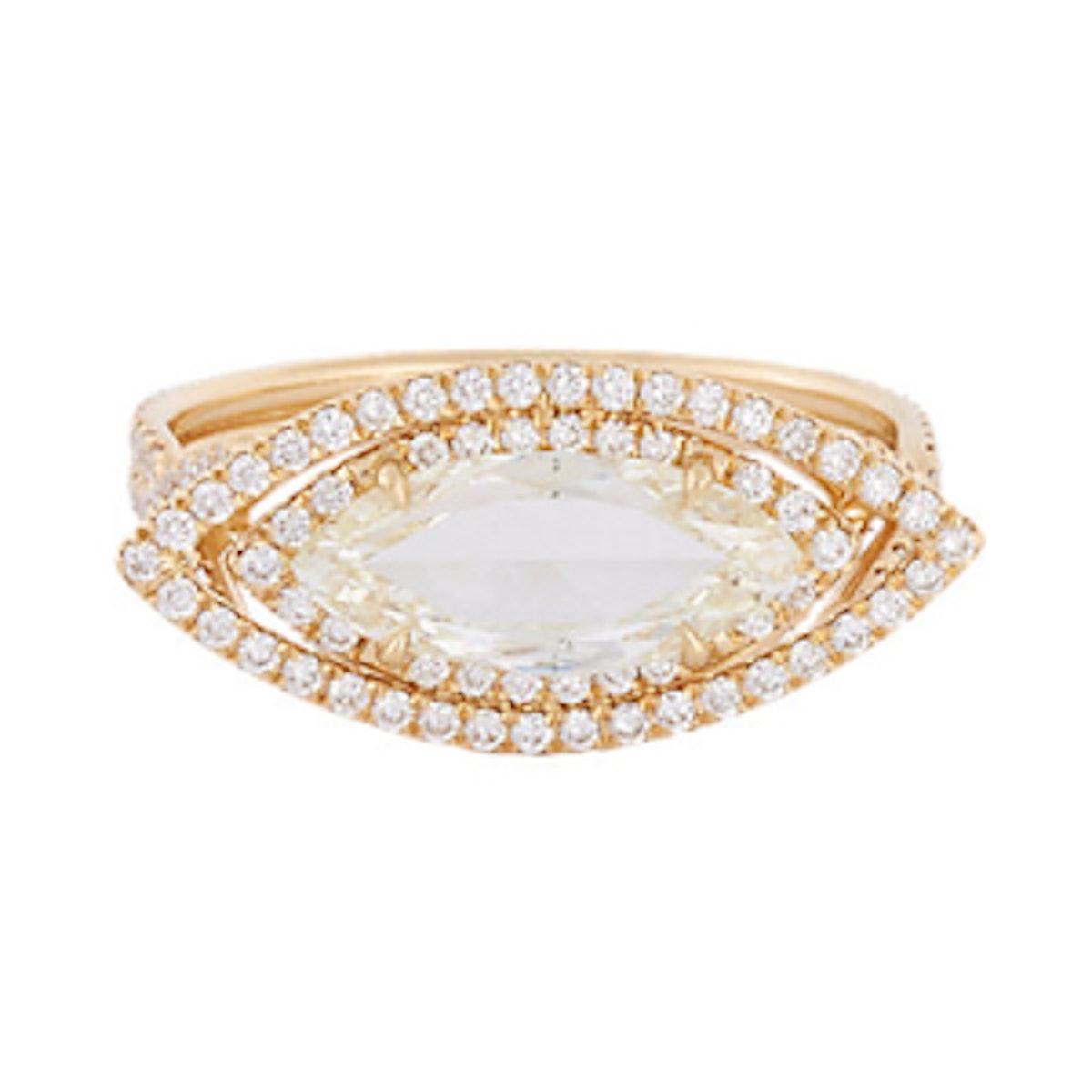 Yellow Diamond Marquise Ring