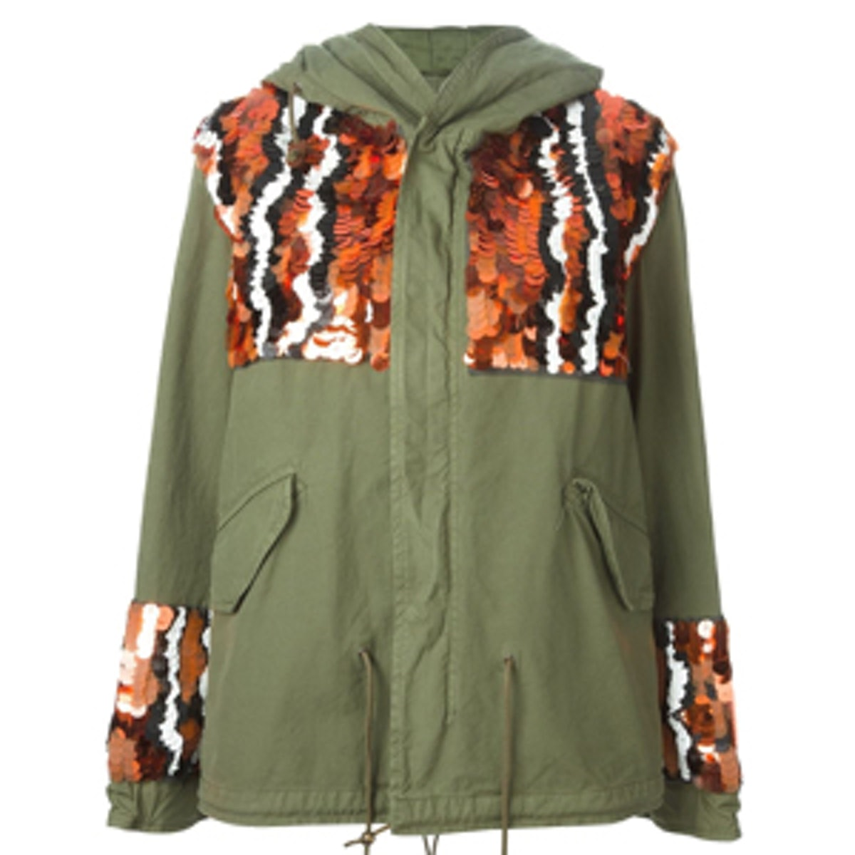 Sequin Panelled Army Jacket