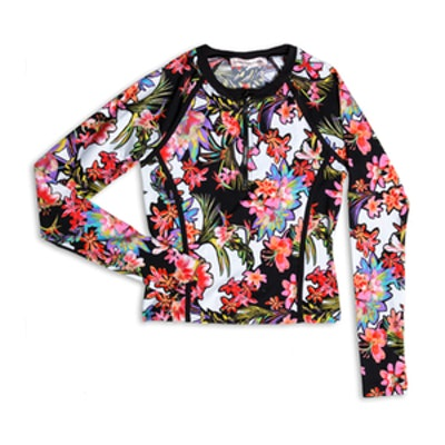 Havana Tropical Cropped Rash Guard