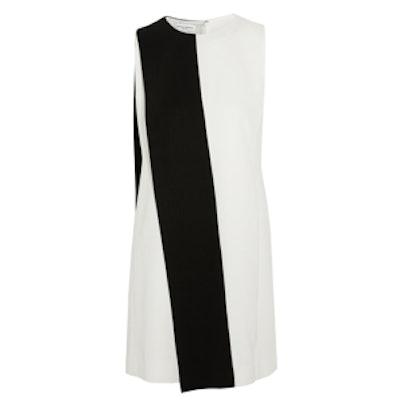Two-Tone Crepe Mini Dress