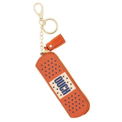 Ouch Textured-Leather Bag Charm