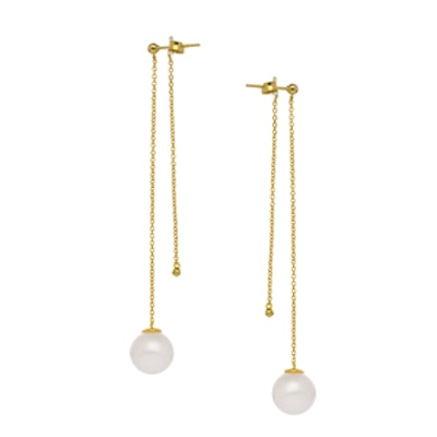 Pearl Front and Back Earrings