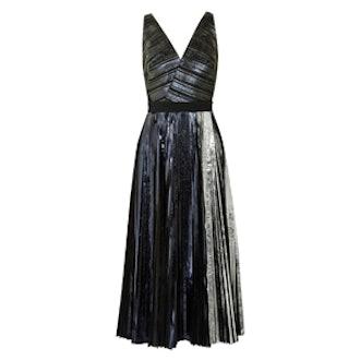 Metallic Cloque Dress