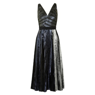 Metallic Cloque Dress