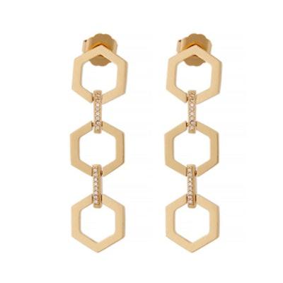 Gavriel Hexagon Drop Earrings