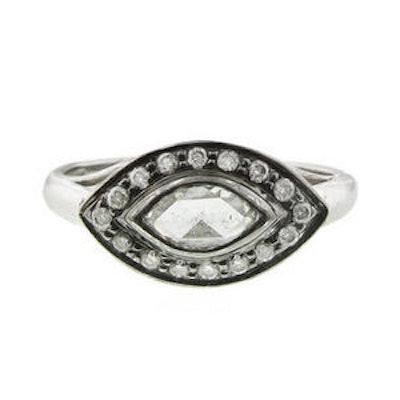 Rose Cut Marquise Diamond Ring